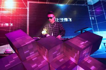 魔声学员DJ Jerry苏州潘多拉Club现场打碟照片