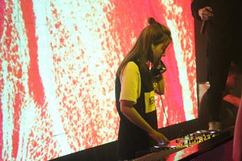魔声DJ学员王蓉迪派克酒吧打碟照片